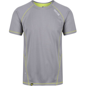 Regatta Virda II T-Shirt Herren rock grey/lime punch